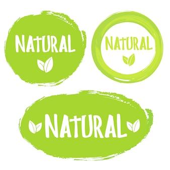 Étiquette 100% produit naturel