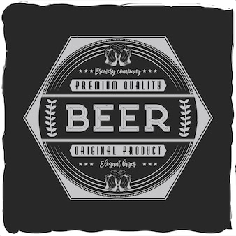 Étiquette d'alcool vintage avec lettrage