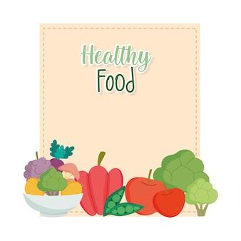 Étiquette des aliments sains
