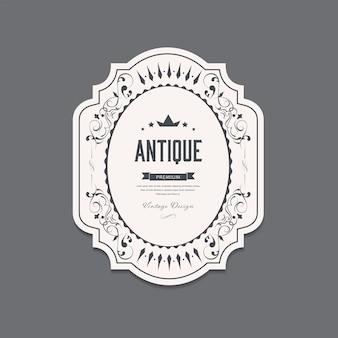 Étiquette antique et style rétro bannière vintage.