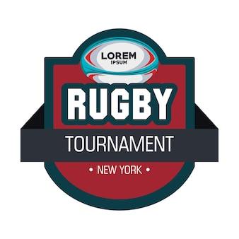 Étiquette balle de tournoi de rugby