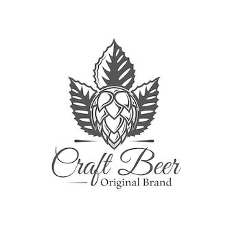 Étiquette de bière artisanale isolée