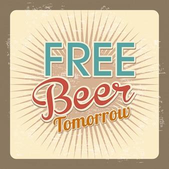 Étiquette de bière gratuite au cours de l'illustration vectorielle fond vintage