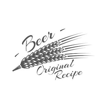 Étiquette de bière isolée sur blanc