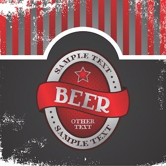 Étiquette de bière thème vector illustration de conception graphique art