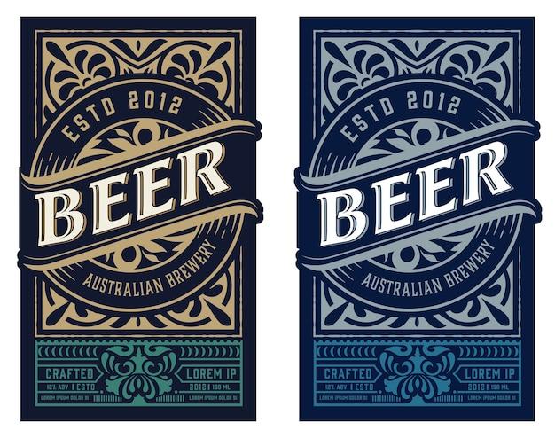Étiquette de bière vintage pour l'emballage
