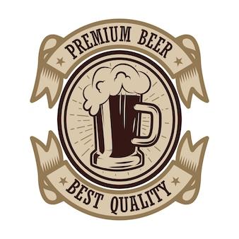 Étiquette de bière vintage