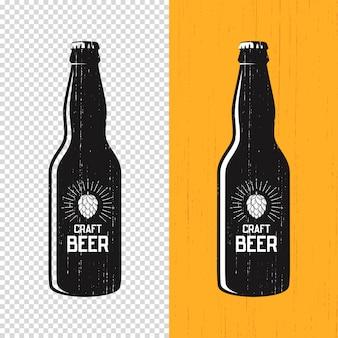 Étiquette de bouteille de bière artisanale texturée