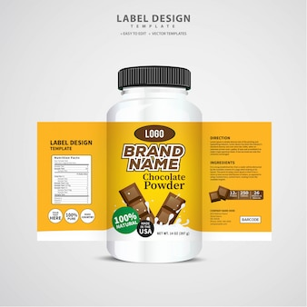 Étiquette de bouteille, conception de modèle de paquet, conception d'étiquette, modèle d'étiquette de conception maquette