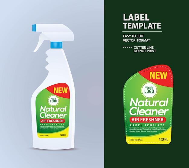 Étiquette de la bouteille, modèle d'emballage, maquette modèle d'étiquette