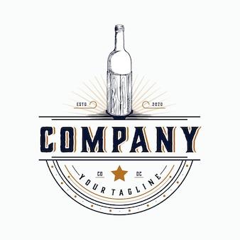 Étiquette bouteille vintage