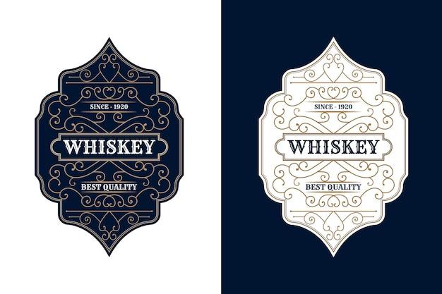 Étiquette de cadre de luxe royal vintage antique