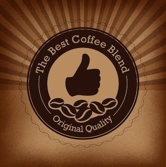 Etiquette de café haut de gamme