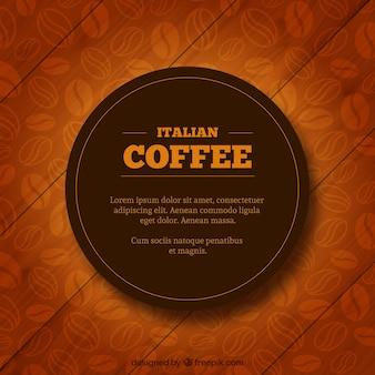Étiquette de café italien