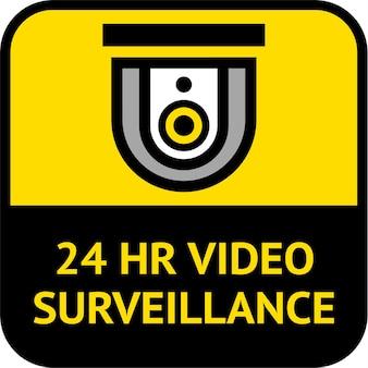 Étiquette carrée de vidéosurveillance