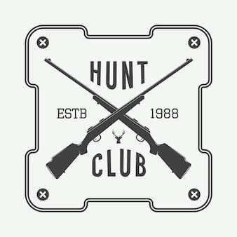 Étiquette de chasse, logo