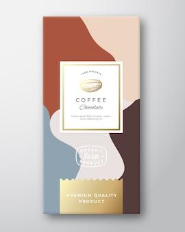 Étiquette de chocolat au café.