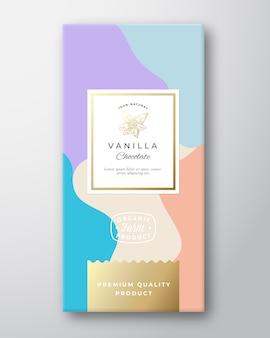 Étiquette de chocolat à la vanille.