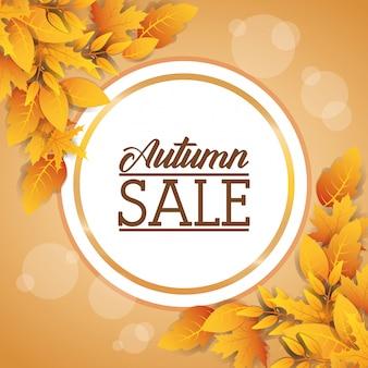 Étiquette circulaire vente automne