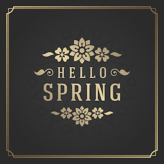 Étiquette de citation de printemps typographie pour carte de voeux.