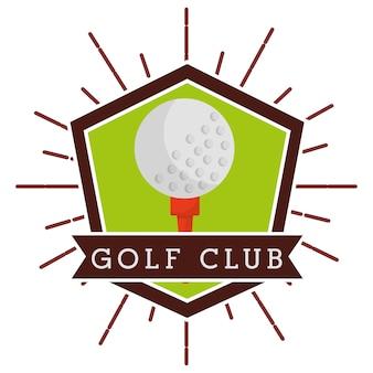 Étiquette de compétition de club de golf de balle