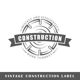 Étiquette de construction isolé sur fond blanc