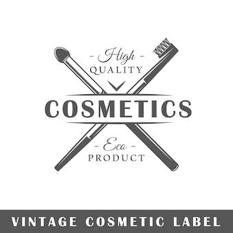 Étiquette cosmétique isolé sur fond blanc