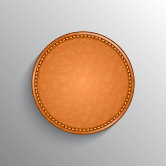 Étiquette en cuir réaliste