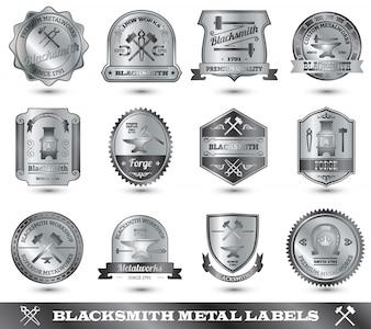 Étiquette de métal de forgeron