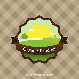 Étiquette du produit organique colorée