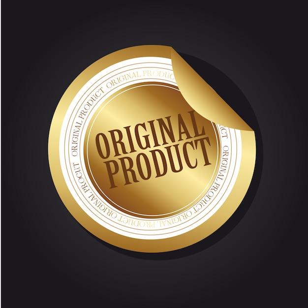 Étiquette du produit original en or