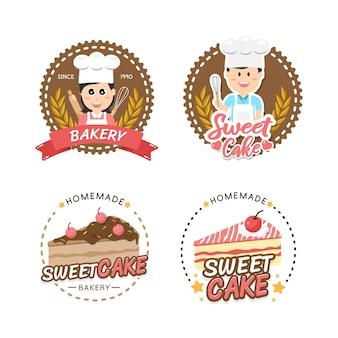 Étiquette et emblème de boulangerie logo design boulangerie