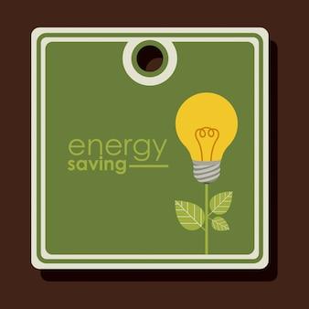 Étiquette ou étiquette de conception d'économie d'énergie
