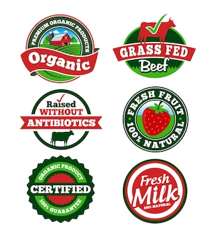 Étiquette de ferme