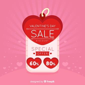 Étiquette fond de vente saint valentin