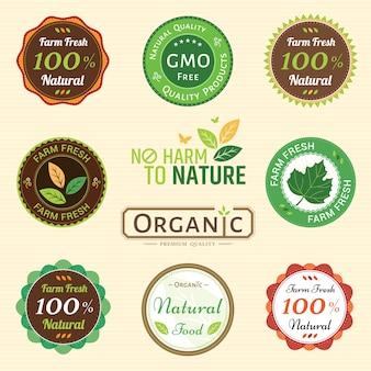 Étiquette de garantie de qualité biologique non chimique