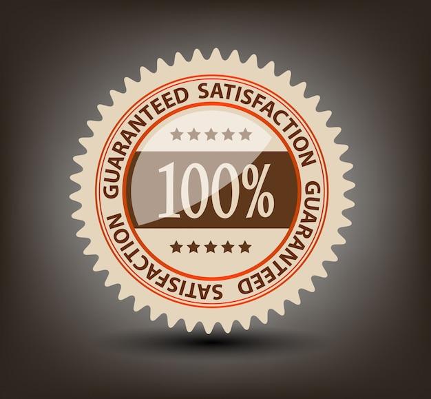 Étiquette garantie de satisfaction