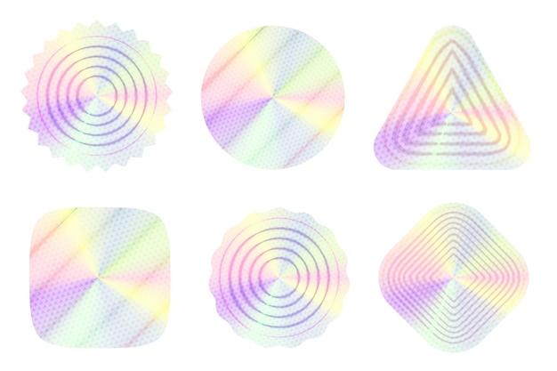 Étiquette holographique avec motif transparent dégradé