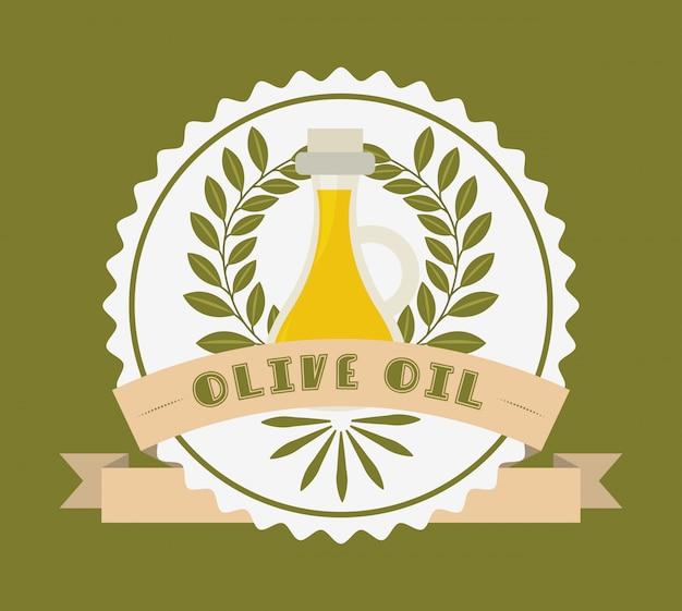 Étiquette d'huile d'olive