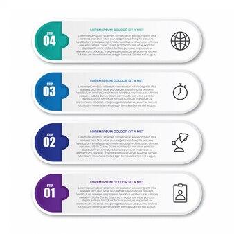 Étiquette infographique créative