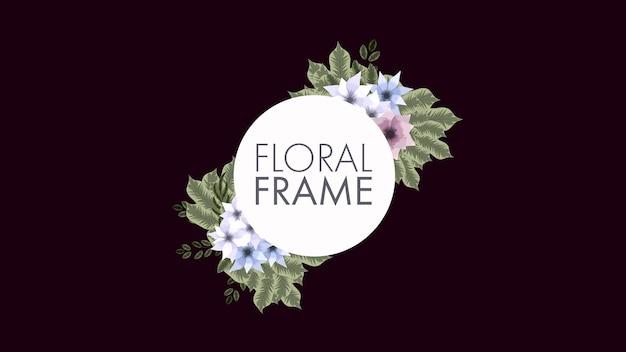 Étiquette d'insigne de jour de femmes d'étiquette vintage de fond de cadre floral de luxe