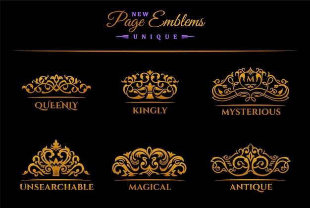 Étiquette d'invitation de carte de menu de logos de conception vintage royale restaurant café hôtel