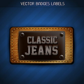 Étiquette de jeans classique