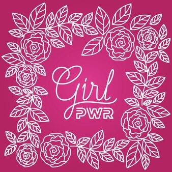 Etiquette jour femme avec motif de roses