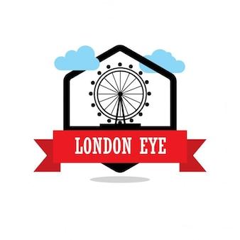 Étiquette london eye ribbon