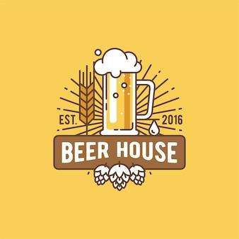 Étiquette de la maison de la bière