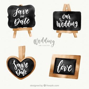 Étiquette de mariage dans le style de tableau