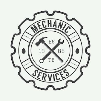 Étiquette de mécanicien