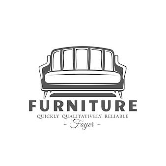 Étiquette de meubles isolé sur fond blanc