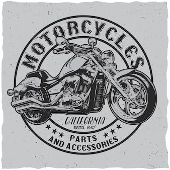 Étiquette de motos de californie